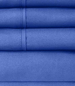 Sweet Home Collection 6PC-SHT-T-RYLBL Sheet Set - 2 EXTRA PILLOW CASES, VALUE, Twin, Royal Blue