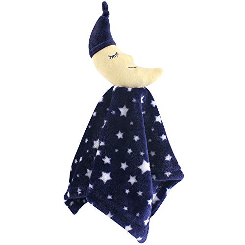 Hudson Baby Unisex Baby Security Blanket, Navy Moon, One Size 52179
