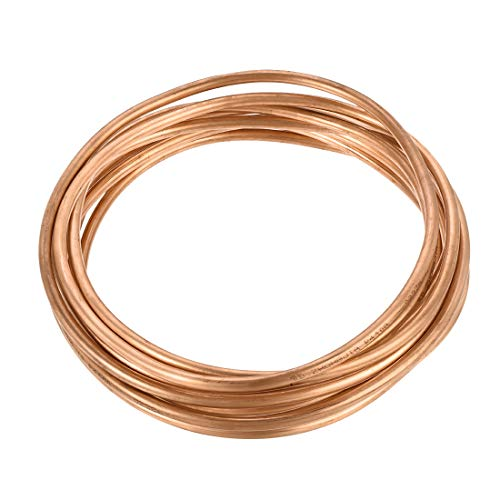 uxcell T2 Copper Refrigeration Tubing, 1/4 Inch OD x 13/64 Inch ID x 16 Ft Soft...