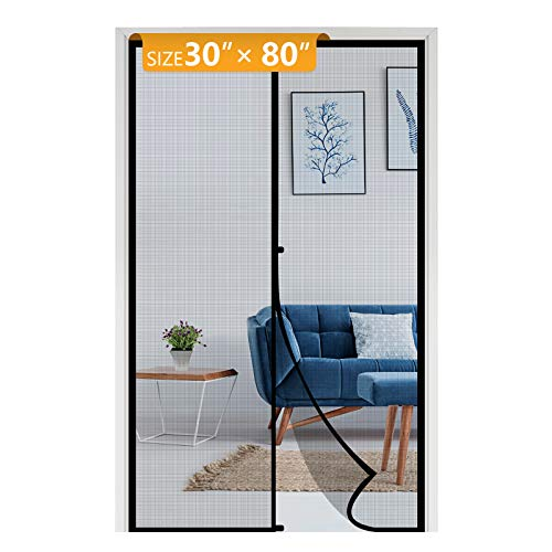 Yotache Fiberglass Magnetic Screen Door Fits Door Size 30 x 80, Heavy Duty for...