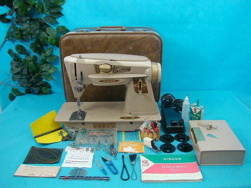 HEAVY DUTY Singer 500A Sewing Machine + WALKING FOOT Sew LEATHER & UPHOLSTERY ++
