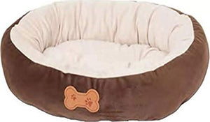 Petmate Aspen Pet Oval Cuddler Pet Bed for Small Breeds 20-inch by 16-inch Chocolate Brown 26944 20 inch by 16 inch