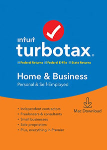 Intuit, Inc. TurboTax Home & Business + State 2019 Tax Software [ Exclusive] [Mac Download]