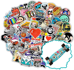 Style-B 100Pcs Featured Stickers(50~500 Pcs/Pack),Suitable for children and adults of all ages,Fast Shipped by . Decals Vinyls for Laptop,Kids,Cars,Motorcycle,Bicycle,Skateboard