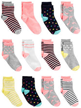 Load image into Gallery viewer, Simple Joys by Carter's Baby Girls' Toddler 12-Pack Sock Crew, Pink/Multi, 4T/5T D27G032