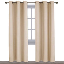 Load image into Gallery viewer, NICETOWN Thermal Insulated Eyelet Top Room Darkening Panels/Curtains/Drapes for Bedroom (2 Panels, W42 x L84 inches, Biscotti Beige)