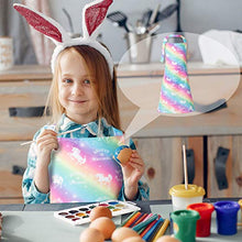 Load image into Gallery viewer, Sylfairy 2 Pack Aprons for Kids Girls Rainbow Unicorn Apron with Pockets for Children Kichen Chef Aprons for Cooking Baking Painting and Party (Small,3-5Years) Rainbow+galaxy