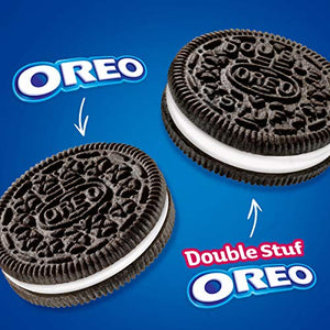 OREO Original & OREO Double Stuf Chocolate Sandwich Cookie Variety Pack, Family Size, 3 Packs 3 Count (Pack of 1)