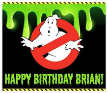 Load image into Gallery viewer, Ghostbusters Birthday Banner Personalized Party Decoration Backdrop