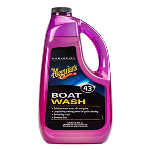MEGUIAR'S  M4364 Marine/RV Boat Wash, 64 Fluid Ounces, Beige, 3.2 x 10.2 x 5.4 inches