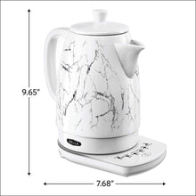 Load image into Gallery viewer, BELLA 14762 Electric Tea Kettle, 1.8 LITER, White Marble