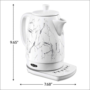 BELLA 14762 Electric Tea Kettle, 1.8 LITER, White Marble