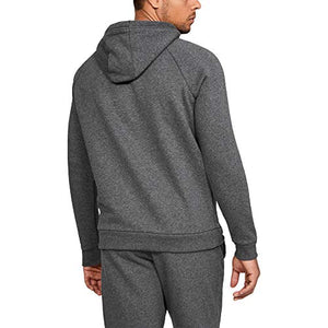 Under Armour Men's Rival Fleece Pullover Hoodie, Grey (Charcoal Light Heath/Black), Small 1320736 Charcoal Light Heather (020)/Black