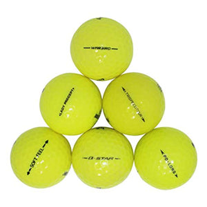 Yellow Premium Brand Golf Balls 50 Pack (50BKT-PLYL-3-COM), One Size 50 Golf Balls
