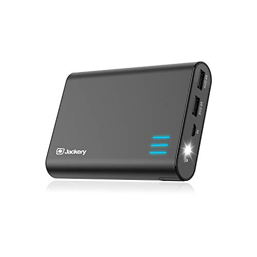 Jackery Portable Charger Giant+ 12000mAh Power Outdoors Dual USB Output Battery Pack Travel Backup Power Bank with Emergency LED Flashlight for iPhone, Samsung and Other Smart Devices - Black F260BLK
