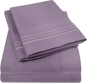 1500 Supreme Collection Extra Soft California King Sheets Set, Plum - Luxury Bed Sheets Set with Deep Pocket Wrinkle Free Hypoallergenic Bedding, Over 40 Colors, California King Size, Plum
