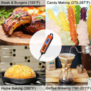 ThermoPro TP01A Instant Read Meat Thermometer with Long Probe Digital Food Cooking Thermometer for Grilling BBQ Smoker Grill Kitchen Oil Candy Thermometer