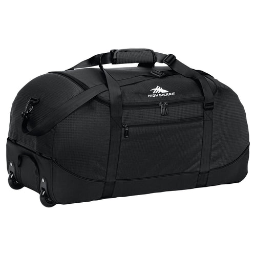 High Sierra Wheel-N-Go Duffel Bag Black