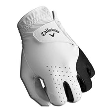 Load image into Gallery viewer, Callaway Golf Men's Weather Spann Premium Japanese Synthetic Golf Glove, Worn on Left Hand, Cadet Small 5319642 White