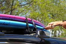"Load image into Gallery viewer, DORSAL Surfboard Kayak SUP Surf Roof Rack Tie Down Straps 15 FT (2) Blue ST200-37-25-0051-258 1"" x 15'"