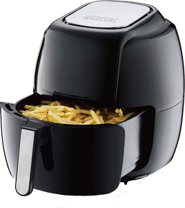 GoWISE USA GW22931 7-Quart 8-in-1 Digital Air Fryer with Basket Divider Accessory + 50 Recipes, Black, 7-Qt