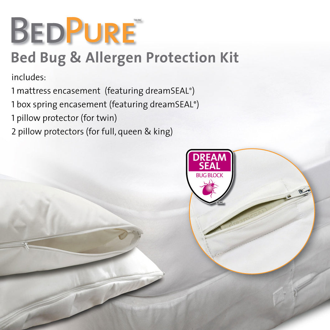 BedPure Bed Bug and Allergen Protection Kit King