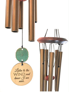 Personalized Memorial Wind Chime in Sympathy Wind PRIME Rush Shipping for Funeral Loss in Memory of Loved One Copper Listen to the Wind Memorial Garden Remembering a loved one