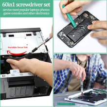 Load image into Gallery viewer, Precision Screwdrivers Set,Lifegoo 64 in 1 Mini S2 Steel Magnetic Driver Bits Repair Tool Kit for iPhone/Ipad/MacBook PC Game/Xbox ONE/360 PS3 PS4/NS Switch/Camera/Toys/Watches & Eyeglasses Ect -Green