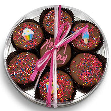 Load image into Gallery viewer, Olde Naples Chocolate Happy Birthday Chocolate Dipped Oreo Cookies Gift | Olde Naples Hand Decorated Oreo Cookies | Gift Basket 7pc Oreo Cookies Assortment Milk Chocolate(Pink)