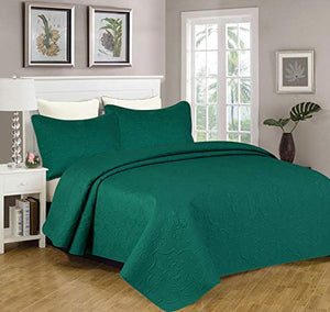 Sapphire Home 3-Piece King/Cal-King Oversize Bedspread Coverlet Bedding Set w/2...