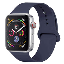 Load image into Gallery viewer, YANCH Compatible with for Apple Watch Band 38mm 42mm 40mm 44mm, Soft Silicone Sport Band Replacement Wrist Strap Compatible with for iWatch Series 4/3/2/1, Nike+,Sport,Edition