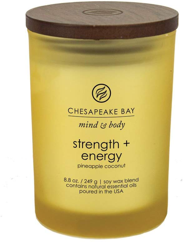 Chesapeake Bay Candle Scented Candle, Strength + Energy (Pineapple Coconut), Medium