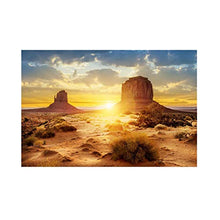 Load image into Gallery viewer, HEEPDD Aquarium Poster, Sun and Desert Style Fish Tank Terrarium Background Poster Thicken PVC Adhesive Static Cling Wallpaper Sticker(12246cm) 122*46cm