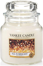 Load image into Gallery viewer, Yankee Candle All is Bright Medium Jar Candle, White