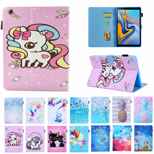 Cat Unicorn Cover For iPad 234, Lucury PU Leather Smart Stand Shell Tablet Case For ipad 4 2 3,9.7 inch with Auto Wake Up/Sleep