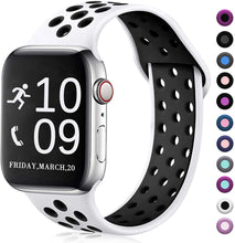 Load image into Gallery viewer, Zekapu Compatible with Apple Watch Band 42mm/38mm/40mm/44mm,Breathable Silicone Sport Replacement Wrist Band Compatible for iWatch Series 5/4/3/2/1
