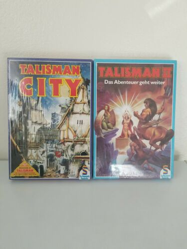 Talisman City & Talisman II - Factory Sealed - RARE BOARD GAMES *