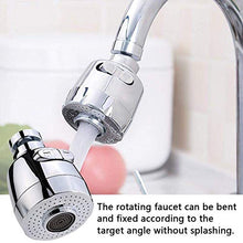 Load image into Gallery viewer, WAISSGURT Kitchen Faucet Aerator Sink Tap Sprayer Head -360 Degree Rotatable ABS Anti-Splash Faucet Sprayer Head Replacement - Sink Nozzle Attachment with 2 Modes 3.3x1.75x1 inch Silver