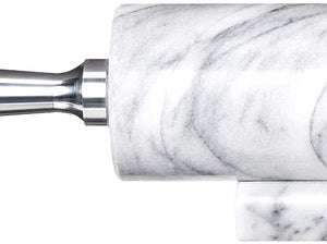 Fox Run 8648 Base with Aluminum Handles Marble Rolling Pin White