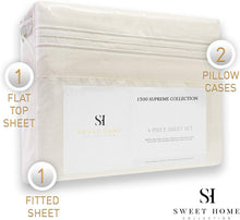 Load image into Gallery viewer, 1500 Supreme Collection Extra Soft Full Sheets Set, Ivory - Luxury Bed Sheets Set with Deep Pocket Wrinkle Free Hypoallergenic Bedding, Over 40 Colors, Full Size, Ivory