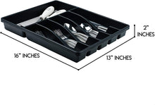 Load image into Gallery viewer, Galashield Silverware Organizer for Kitchen Drawer Flatware Utensils and Cutlery Tray