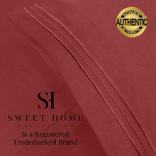 Load image into Gallery viewer, 1500 Supreme Collection Extra Soft Twin Sheets Set, Burgundy - Luxury Bed Sheets Set with Deep Pocket Wrinkle Free Hypoallergenic Bedding, Over 40 Colors, Twin Size, Burgundy