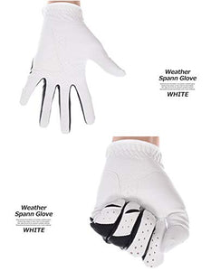 Callaway Golf Men's Weather Spann Premium Japanese Synthetic Golf Glove, Worn on Left Hand, Cadet Small 5319642 White