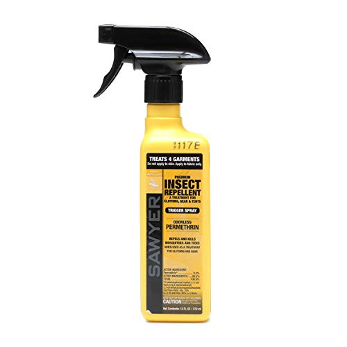 Sawyer Products SP649 Premium Permethrin Clothing Insect Repellent Trigger Spray, 12-Ounce Yellow