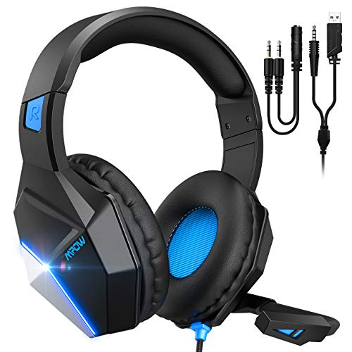 Mpow EG10 Gaming Headset for PS4, PC, Xbox One Controller,Over-Ear Headphones...