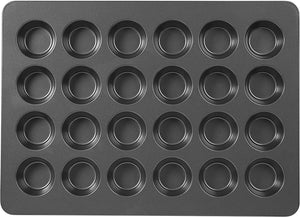 Wilton Perfect Results Premium Non-Stick Mega Standard-Size Muffin and Cupcake Baking Pan, Standard 24-Cup
