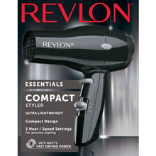 Load image into Gallery viewer, Revlon 1875W Compact & Lightweight Hair Dryer, Black