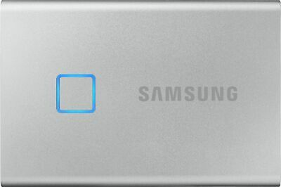 Samsung - Portable T7 Touch 1TB External USB 3.2 Gen 2 Portable Solid State D...