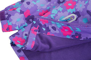 M2C Girls Outdoor Floral Fleece Lined Light Windproof Jacket with Hood 6/7 Violet IGJP11V0120USB
