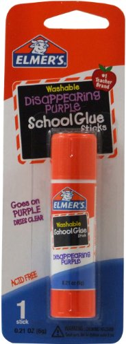 Elmer's Disappearing Purple Glue Stick, 0.21 oz E513 1 Count Standard Stick